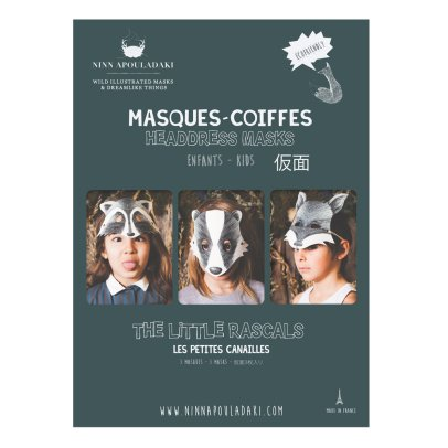 "Ninn Apouladaki Masken ""Les petites Canailles"" im 3er-Pack -listing"