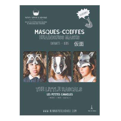 Ninn Apouladaki Masques les petites canailles - Set de 3-listing
