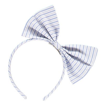 No Added Sugar Jaunty Striped Bow Headband-listing