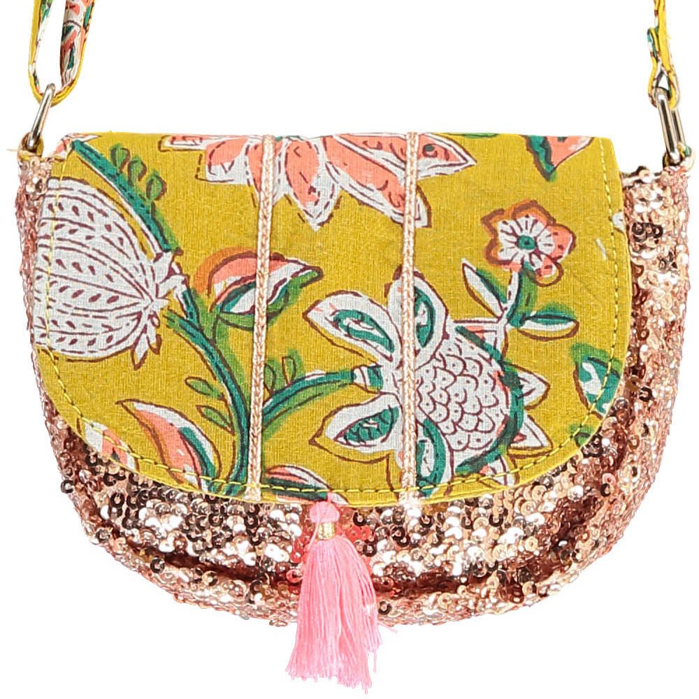 Misha Sequin Flower Pouch-product