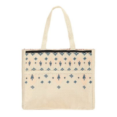 Louise Misha Olvera Sequin Linen and Cotton Bag - Women's Collection-product