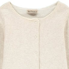De Cavana Fleece Cardigan with Sequin Elbow Patches-listing