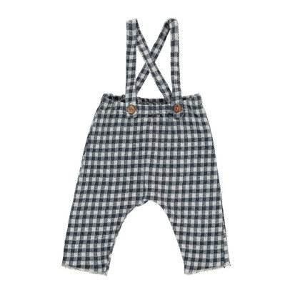 De Cavana Checked Trousers with Braces-listing
