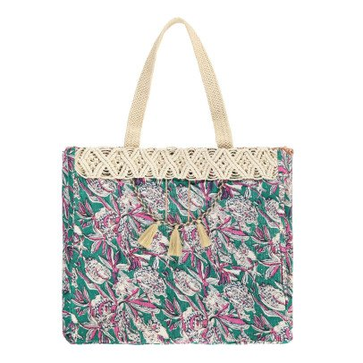 Louise Misha Uluwatu Floral Linen and Cotton Bag - Women's Collection-product