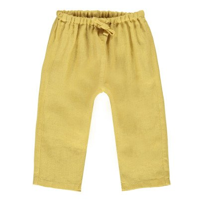 Caramel Baby Burdock Cotton Linen Trousers-listing