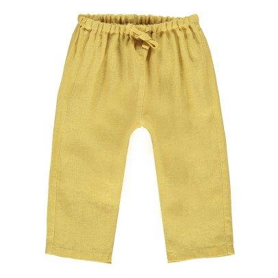 Caramel Baby Hose aus Baumwolle und Leinen Burdock -listing