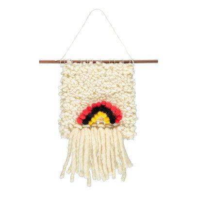 Annabelle Jouot Tissage en laine arc-en-ciel fait main-listing