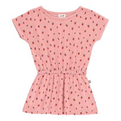 Oeuf NYC Kleid Erdbeere aus Pima Bio-Baumwolle -listing