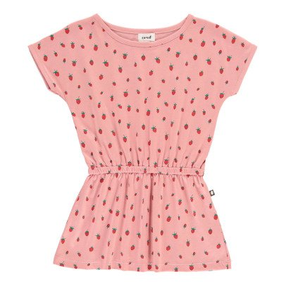Oeuf NYC Organic Pima Cotton Strawberry Dress-listing