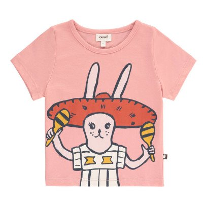 Oeuf NYC Organic Pima Cotton Mariachi Rabbit T-Shirt-listing