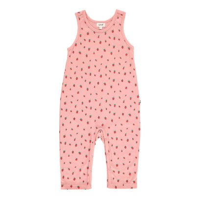Oeuf NYC Organic Pima Cotton Strawberry Jumpsuit-listing