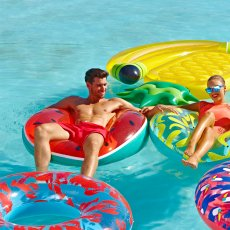 Sunnylife Round Inflatable Watermelon Ring-listing