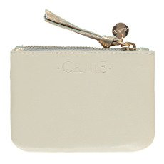 Craie Finance Two-Tone Leather Card Holder with Zip-product