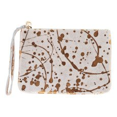 Craie Speckled Leather Pouch-listing