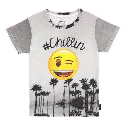 Little Eleven Paris Chilin Emoji T-Shirt-listing