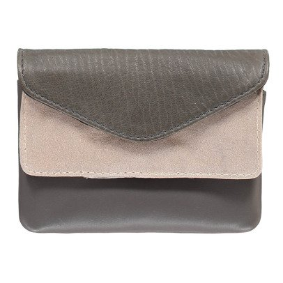 Craie Pocket Double Flap Leather Pouch-listing