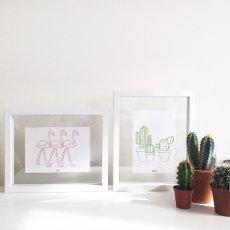 Anso Tarjeta de bordado cactus-listing