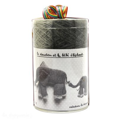 Idées de Saison by La Droguerie DIY Knit Elephant and Baby Soft Toys-listing