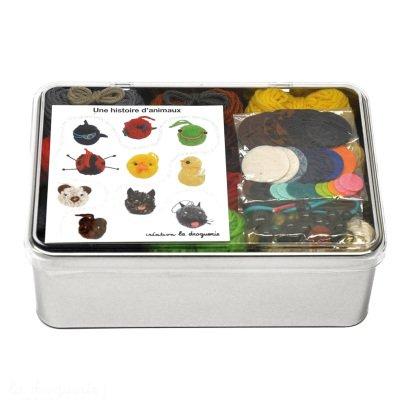 Idées de Saison by La Droguerie An Animal Story DIY Knit Animals -listing