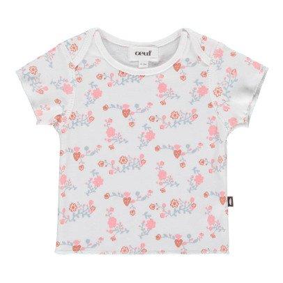 Oeuf NYC T-shirt Fleurs Coton Pima Bio-product
