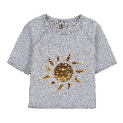 De Cavana Sweatshirt Sonne mit Pailletten -listing