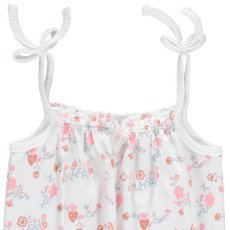 Oeuf NYC Organic Pima Cotton Floral Romper with Straps-listing