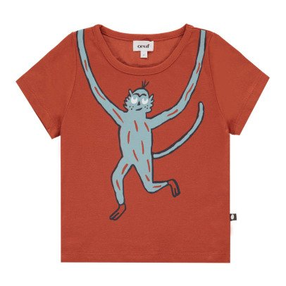 Oeuf NYC Organic Pima Cotton Monkey T-Shirt-listing