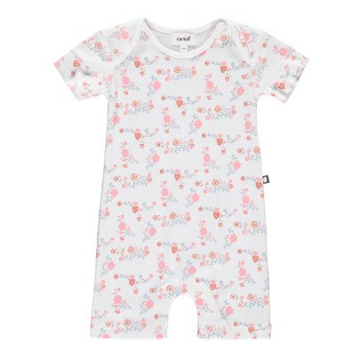 Oeuf NYC Organic Pima Cotton Floral Playsuit-listing