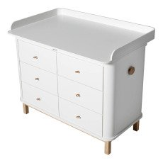 Oliver Furniture Piano fasciatoio grande per como 6 cassetti-listing