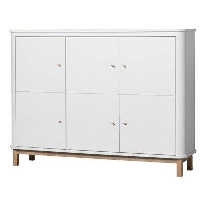 Oliver Furniture Multi-Storage 3 Door Oak Dresser-listing
