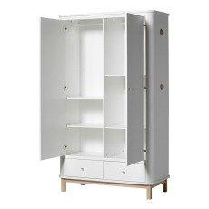 Oliver Furniture 2 Door Oak Wardrobe-listing