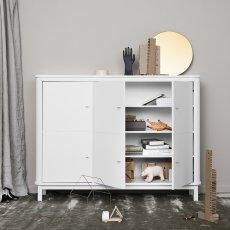 Oliver Furniture Armario multi-almacenamiento 3 puertas en abedul -listing