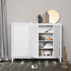 Oliver Furniture Multi-Storage 3 Door Birch Dresser-listing