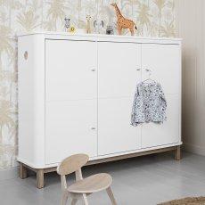 Oliver Furniture Armoire multi-rangement 3 portes en chêne-listing