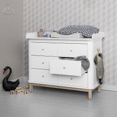 Oliver Furniture Wickelkommode 6 Schubladen Eiche, große Wickelunterlage-listing