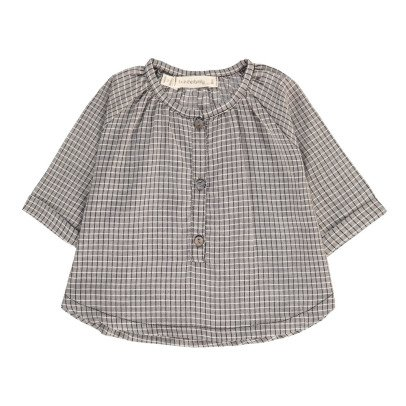 1+ IN THE FAMILY Thais Long Sleeve Checked Blouse-product