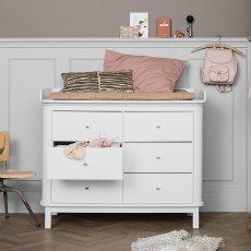 Oliver Furniture Wickelkommode 6 Schubladen Birke, große Wickelunterlage-listing