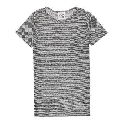 Douuod T-Shirt Fines Rayures Poche Interprete-listing