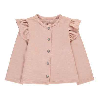 Louis Louise Cardigan Mollettone Volant-listing