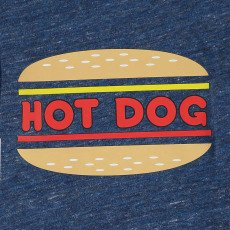 Simple Kids Camiseta Jaspeada Hot Dog-listing