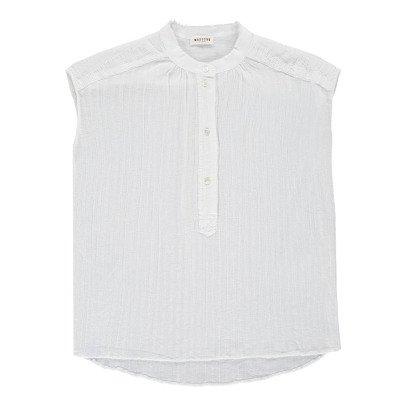 Masscob Top Sans Manches Coton Ajouré-listing