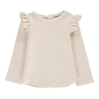 Louis Louise Mia Lurex Striped Ruffle Sweatshirt-product