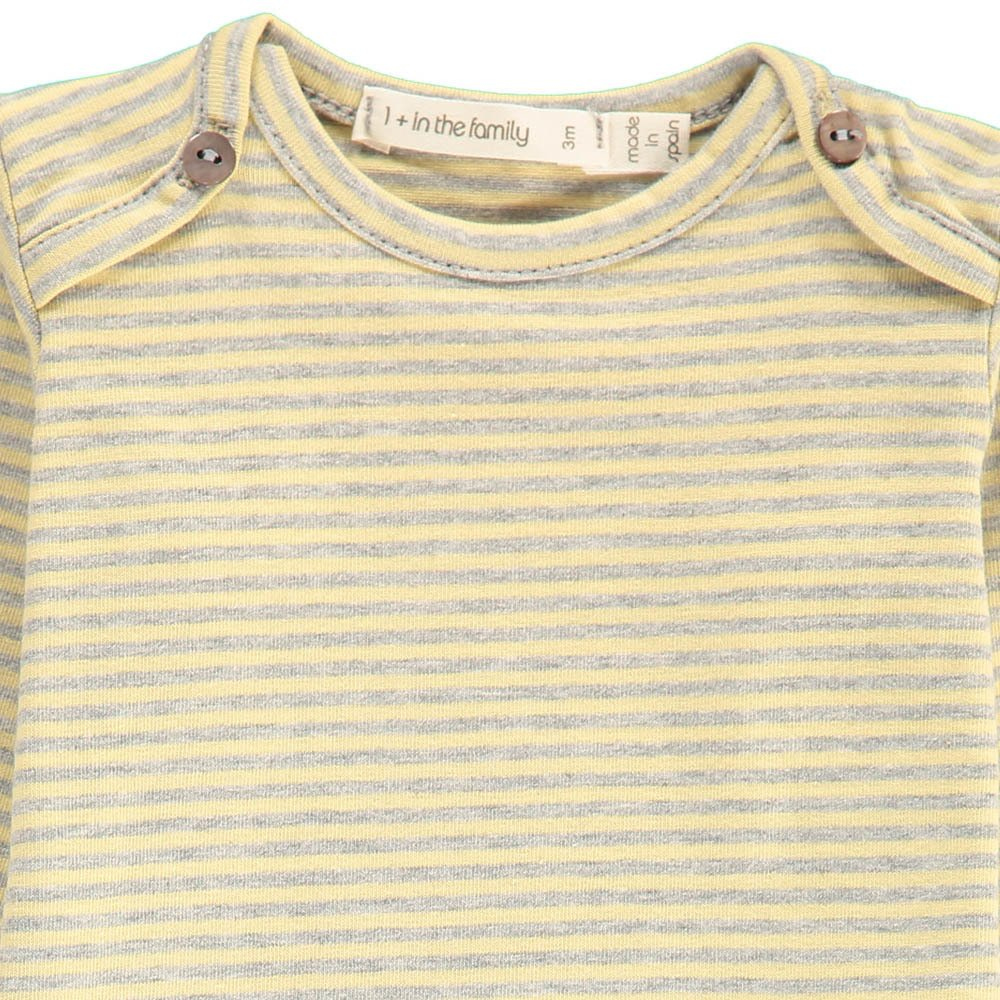 1+ IN THE FAMILY Pepe Striped Fine Baby Vest-product