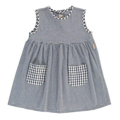 De Cavana Gestreiftes Kleid mit Taschen -listing