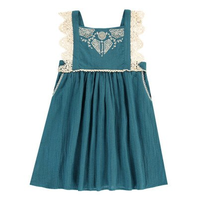 Louise Misha Celia Embroidered Pinafore Dress-listing
