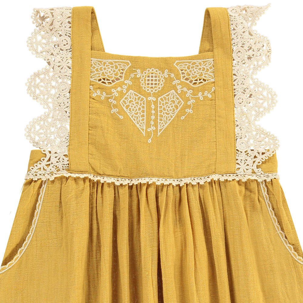 Louise Misha Celia Embroidered Pinafore Dress-product
