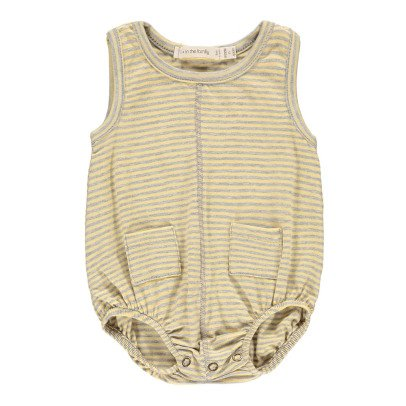 1+ IN THE FAMILY Lorenzo Striped Fine Romper-product