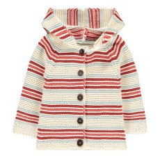 product-Oeuf NYC Striped Hooded Cardigan