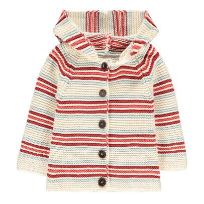 Oeuf NYC Striped Hooded Cardigan-listing