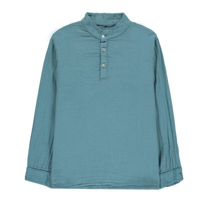 Poudre Organic Camisa Algodón Biológico Doble Gasa-listing
